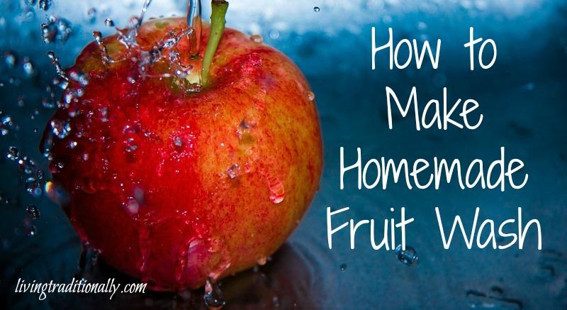 How to Make Homemade Fruit Wash