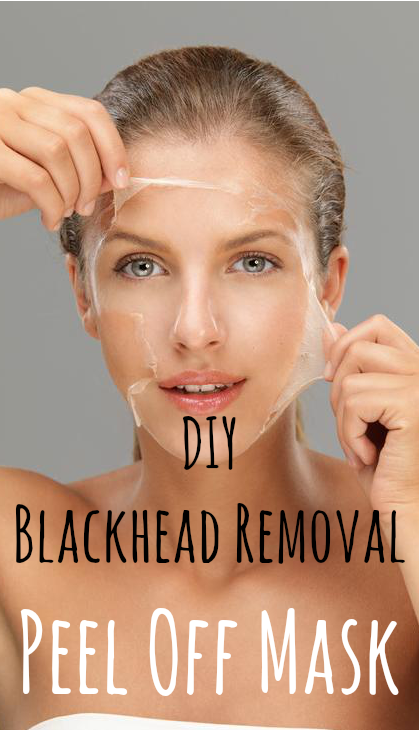 DIY Blackhead Removal Peel Off Mask