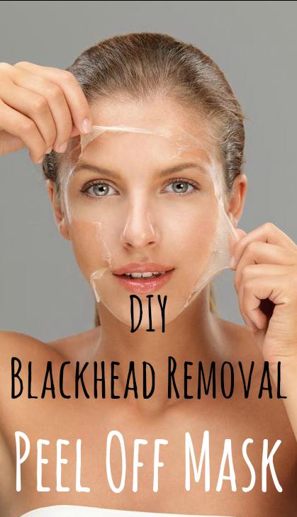 DIY Blackhead Removal Peel Off Mask