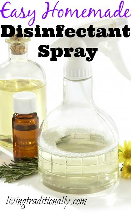 Easy Homemade Disinfectant Spray