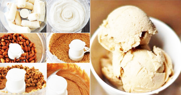 Make your own Raw Banana & Almond Butter Ice Cream (Dairy-Free!)
