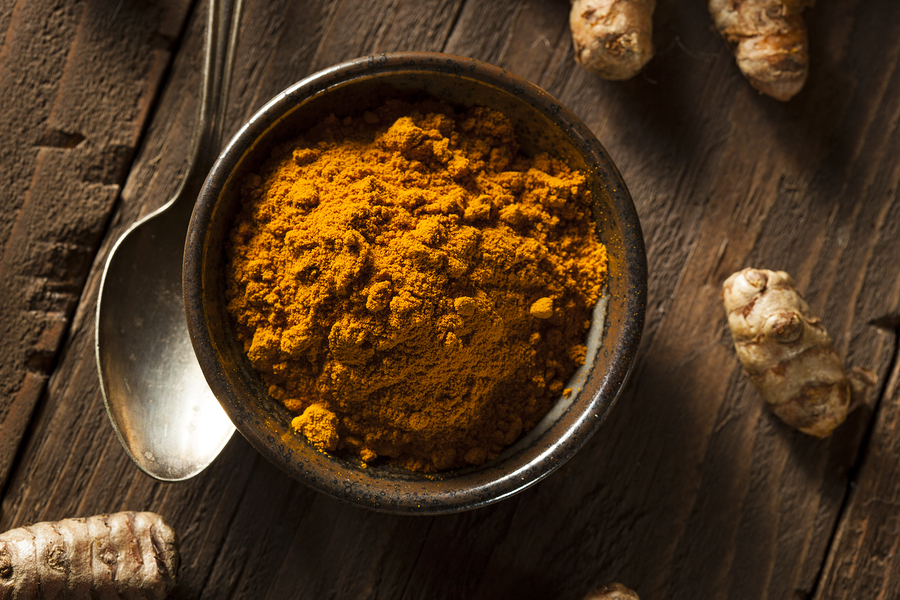 Raw Organic Turmeric Spice in a Bowl ** Note: Shallow depth of field